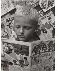 Boy-Reading-Comics-in-Black-and-White