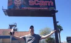 Joe With The Scam Billboard in Vegas