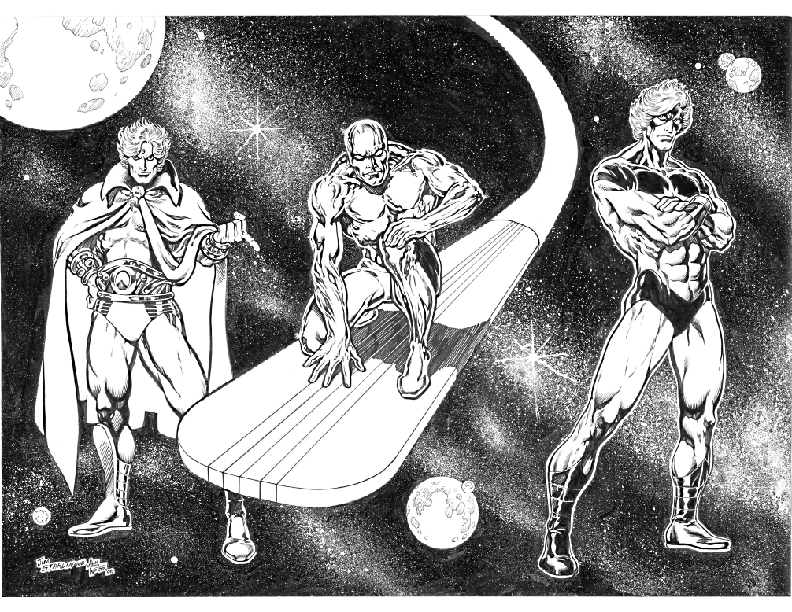 Warlock, Silver Surfer and Captain Marvel
