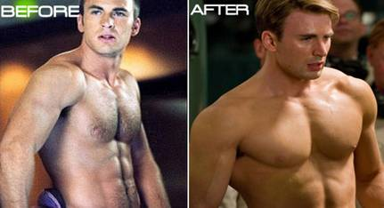 Chris Evans Before and After HGH