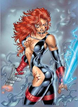 Typical Female Rob Liefeld Pose