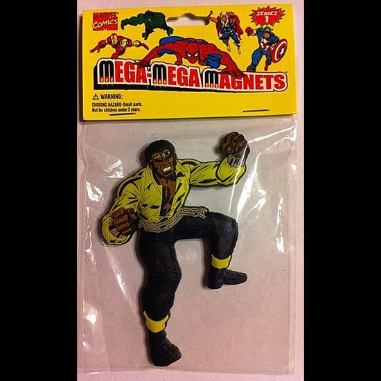 Here'a an awesome old school Marvel Mega Mega Magnet of Power Man from back in the day