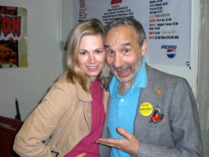 The lovely Jessica Cameron with the lovely Lloyd Kaufman