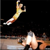 Katy Perry on Fire in honor of the legendary Bam Bam Bigelow?