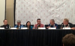 WTC Live 2014 at the Calgary Comic & Entertainment Expo. From left to right, Keith Callbeck, Chris Beck, Stephanie Chan, Robert Venditti, Brett Monro