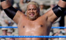 World Wrestling Entertainment (WWE) superstar Rikishi performs for the troops at Camp Victory, Baghdad International Airport (BIAP), Iraq (IRQ) during Operation IRAQI FREEDOM.