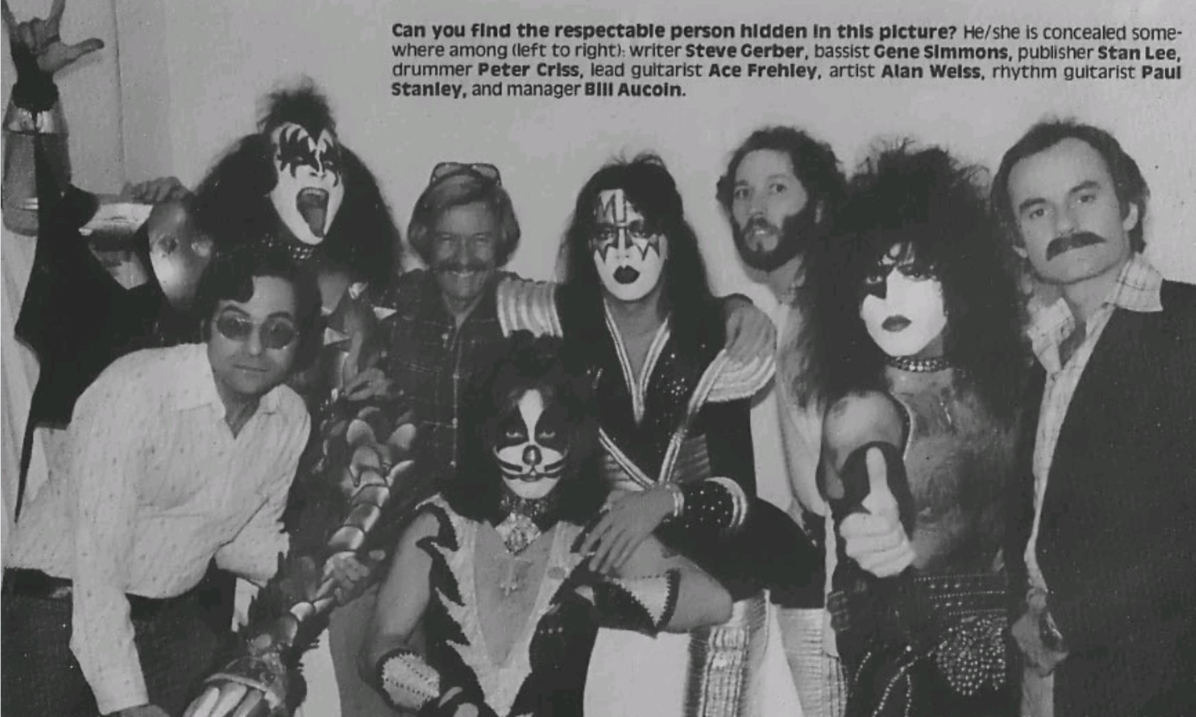 The guys from Kiss visit Marvel Comics in 1977 for the first Marvel Comics Super Special.